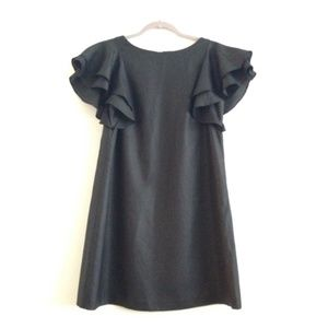 Ali Ro Ruffle Sleeve Black Dress
